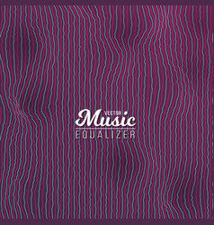 Music equalizer digital glitch effect vector