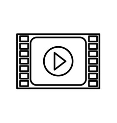 Play button film isolated icon vector