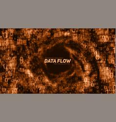 Abstract big data visualization orange vector