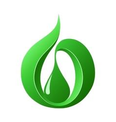 Abstract green drop vector