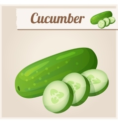 Cucumber detailed icon vector
