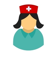 Female nurse vector