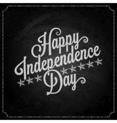 Independence day vintage lettering chalk vector