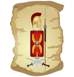 Armed warrior of ancient rome vector