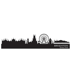 Brighton england skyline detailed silhouette vector