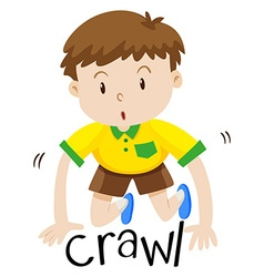 Little boy crawling on the floor vector