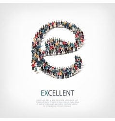 Excellent people sign 3d vector