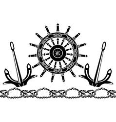 handwheel vector image