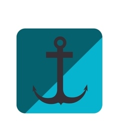 Anchor silhouette isolated icon vector
