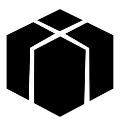 Big box icon simple style vector image