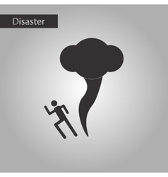 Black and white style icon tornado human vector