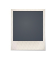 Blank retro photo frame vintage vector