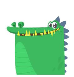 Cartoon silly crocodile smiling vector