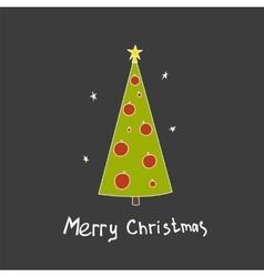 Christmas postcard with fir trees vector image