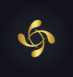 Circle gold splash logo vector