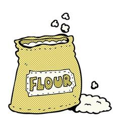 comic cartoon bag of flour vector image vector image