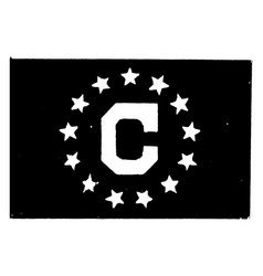 Consular flag 1923 vintage vector