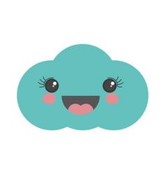 cute cloud kawaii cartoon vector image