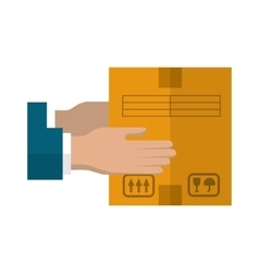 Delivery of cargo flat icon vector image vector image