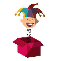 Harlequin icon vector
