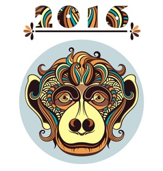 Head of the monkey vector