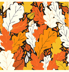 Hello fall pattern vector