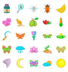 Heyday icons set cartoon style vector