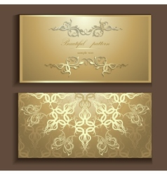 luxury card vector image