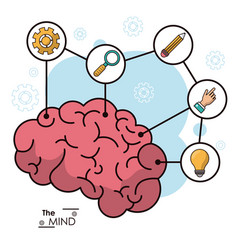 Mind human brain creative innovation idea vector