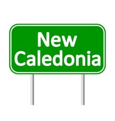 New caledonia road sign vector