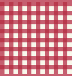 pink plaid fabric pattern vector image vector image