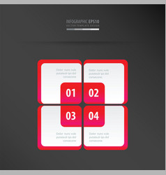 rectangle presentation template neon pink vector image