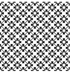 Seamless pattern rounded lattice with crosses vector