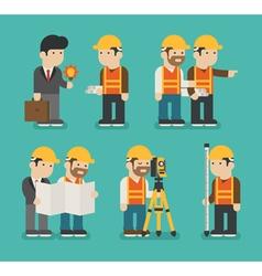 Set of construction worker eps10 format vector