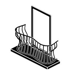 stylish balcony icon simple style vector image
