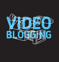 Video blogging design with isolated video camera vector