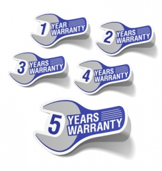 warranty labels vector image vector image