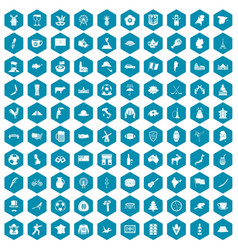 100 map icons sapphirine violet vector