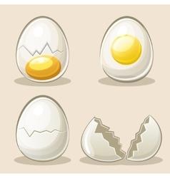 cartoon eggs in elements vector image