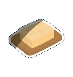 Cheese dairy food vector
