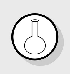 tube laboratory glass sign flat black vector image