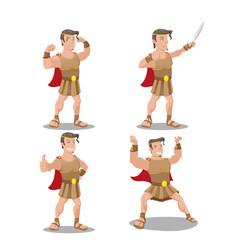 hercures god hero cartoon character vector image