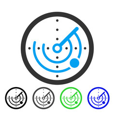 Round radar flat icon vector