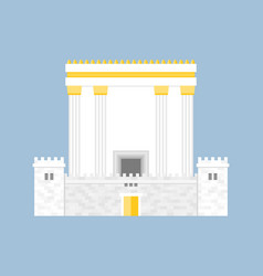 Herod temple flat design vector