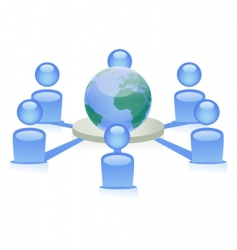 social networking vector image