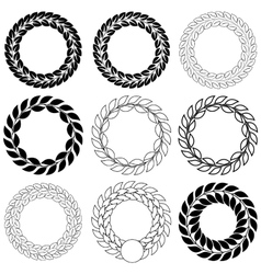 Set laurel wreath on the white background vector