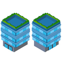 3d design for blue building vector