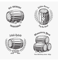 Set of vintage badge for beer house vector