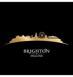 Brighton england city skyline silhouette vector