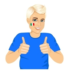 Italian football fan showing thumbs up sign vector